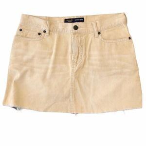 Abercrombie & Fitch Corduroy Frayed Mini Skirt 2